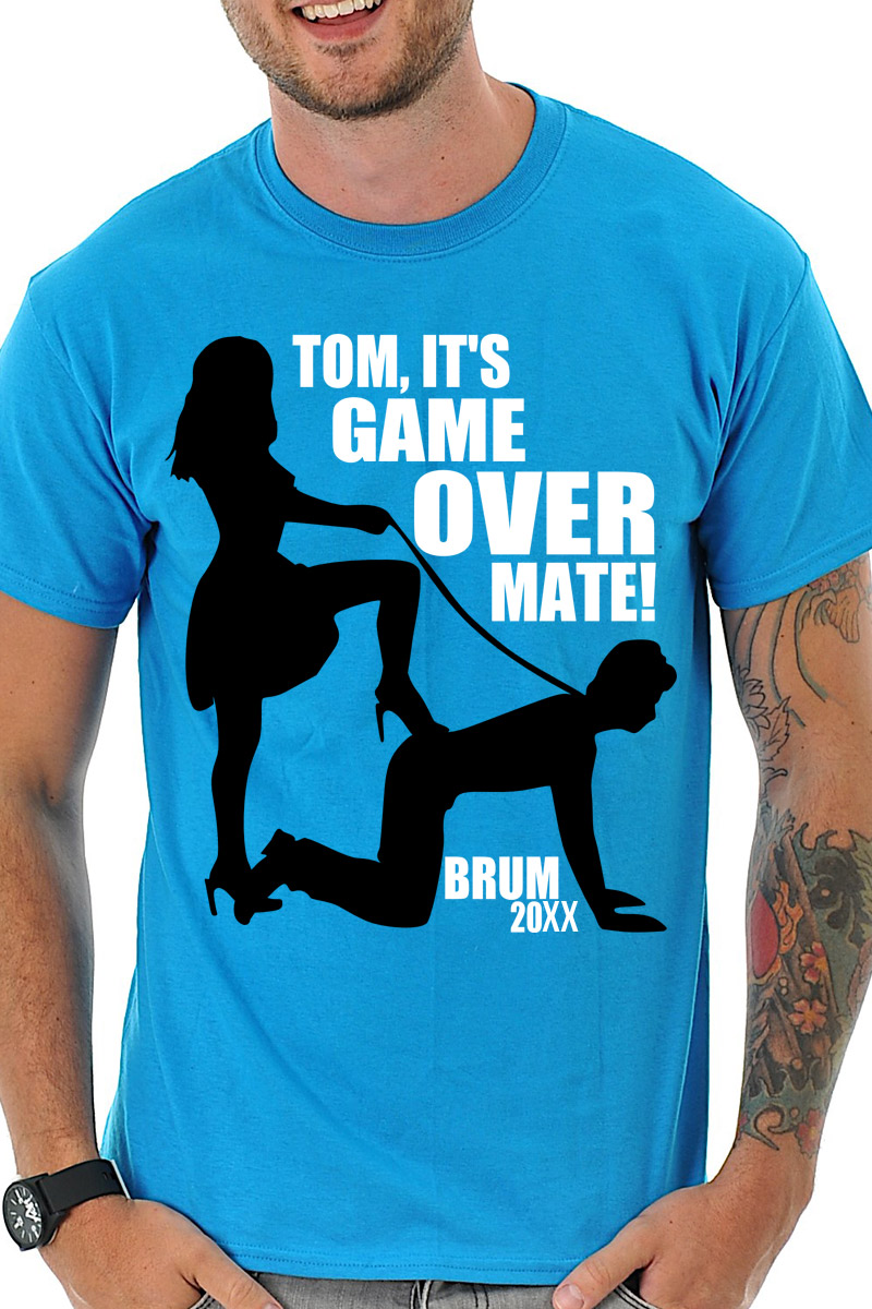 8f765f5928 Game Over T-Shirt - Stag Night TShirts on Foxy Funk - Personalised T ...